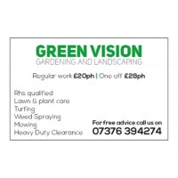 Green vision gardening and landscaping