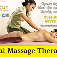 Unique thai therapy massage  logo