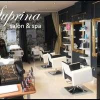 Suprina salon and spa logo