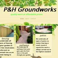 P&h groundworks logo