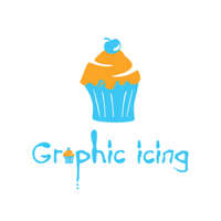 Graphic icing logo