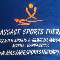 massage sports therapy logo