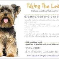 Taking The Lead Dog Walkers & Pet Services logo