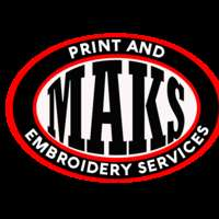 MAKS print and embroidery services logo