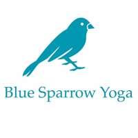 Blue Sparrow yoga logo