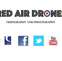 Red air drones  logo
