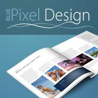 Blue pixel design Ltd logo