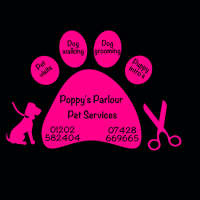 Poppy's parlour pet services  logo