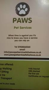 Photo by Pawspetservicesfelixstowe.co.uk