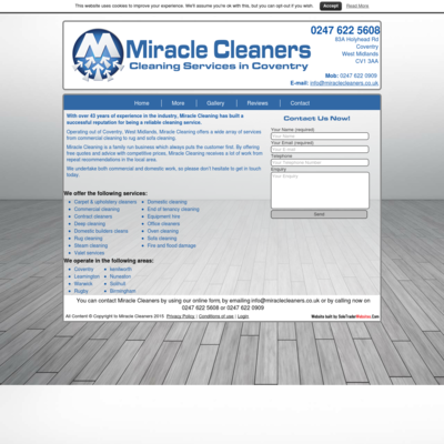 MIRACLE CLEANERS