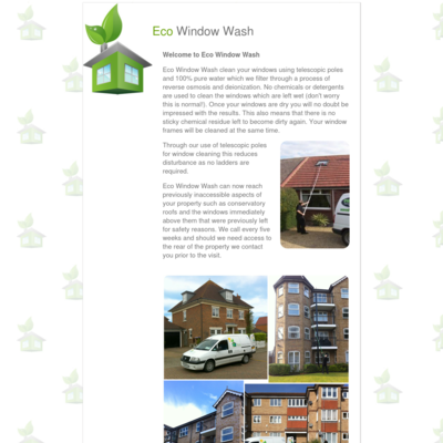 Eco Window Wash