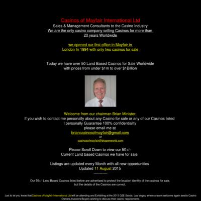 Casinos of mayfair International Ltd