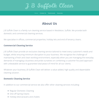 J B Suffolk Clean