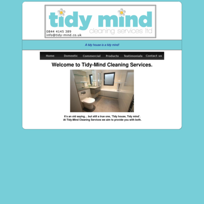 Tidy Mind Cleaning Services Ltd