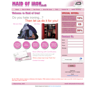 Maid-of-iron. Ironing service