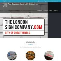 The London Sign Company  - 0208 432 0902