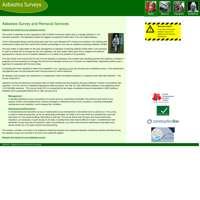 Asbestos survey removal