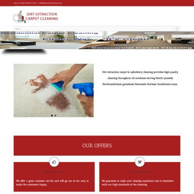 dirt extraction carpet & upholstery cleaning