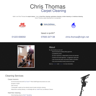 Chris Thomas Professional Cleaning