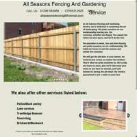 All seasons fencing and gardening services