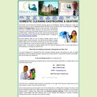 Dolly char domestic cleaning agency logo