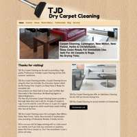 TJD Dry Carpet Cleaning logo