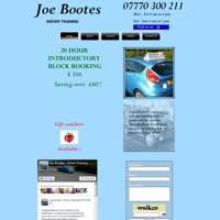 Joe Bootes Driver Training logo