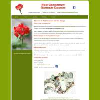 Red Geranium Garden Design