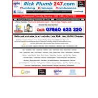 Rickplumb247. Com logo