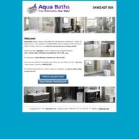 aqua bathrooms wm ltd  logo