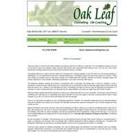 Oak Leaf Counselling logo
