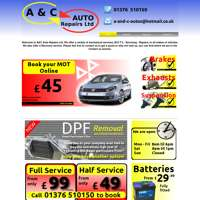 A AND C AUTO REPAIRS LTD  logo