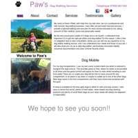 Paws Dog Walking Services logo