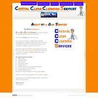 Crystal Clear Cleaning Services logo