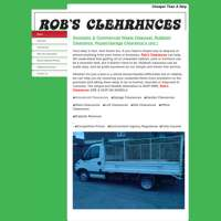 Rob's clearances logo