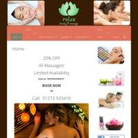 Relax beauty and massage salon  logo