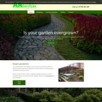 AA gardening services logo