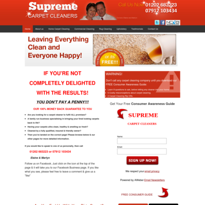 Supreme Carpet Cleaners