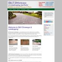D&X driveways and landscaping logo