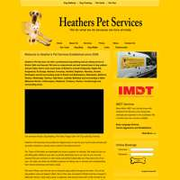 Heathers pet services  logo