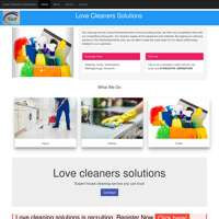 Love Cleaning Solution  logo