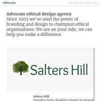 Advocate design agency logo