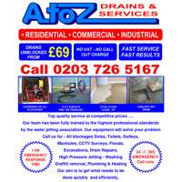 A  to. Z drains. &. Services logo