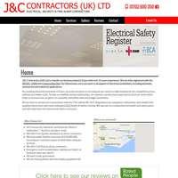 J&C contractors  logo