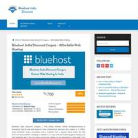 bluehost India discount logo