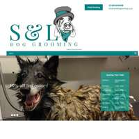 S and L Dog Grooming logo