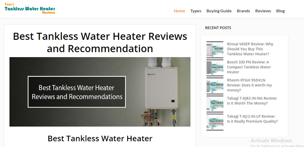Photo by Toms Tankless Water Heater Reviews