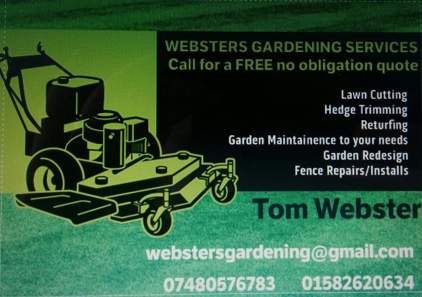 Photo by Websters gardening services
